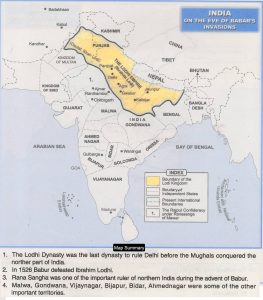 India - babar time Map