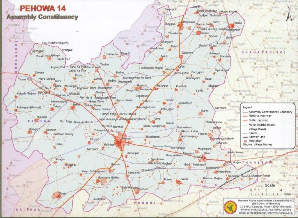 मानचित्र पेहोवा