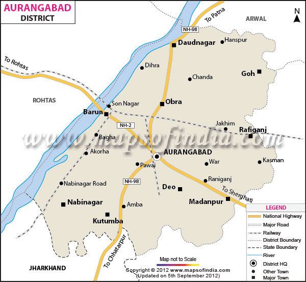 DISTRICT AURANGABAD-MAP
