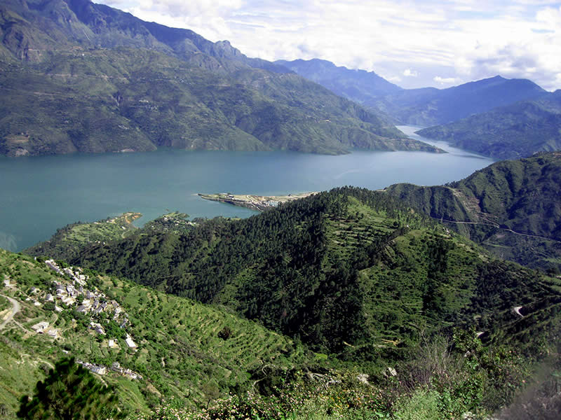 Lake of Tehri Dam