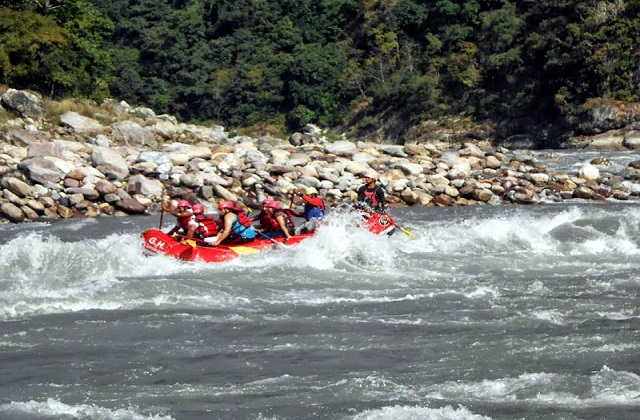 Rafting at Shivpuri