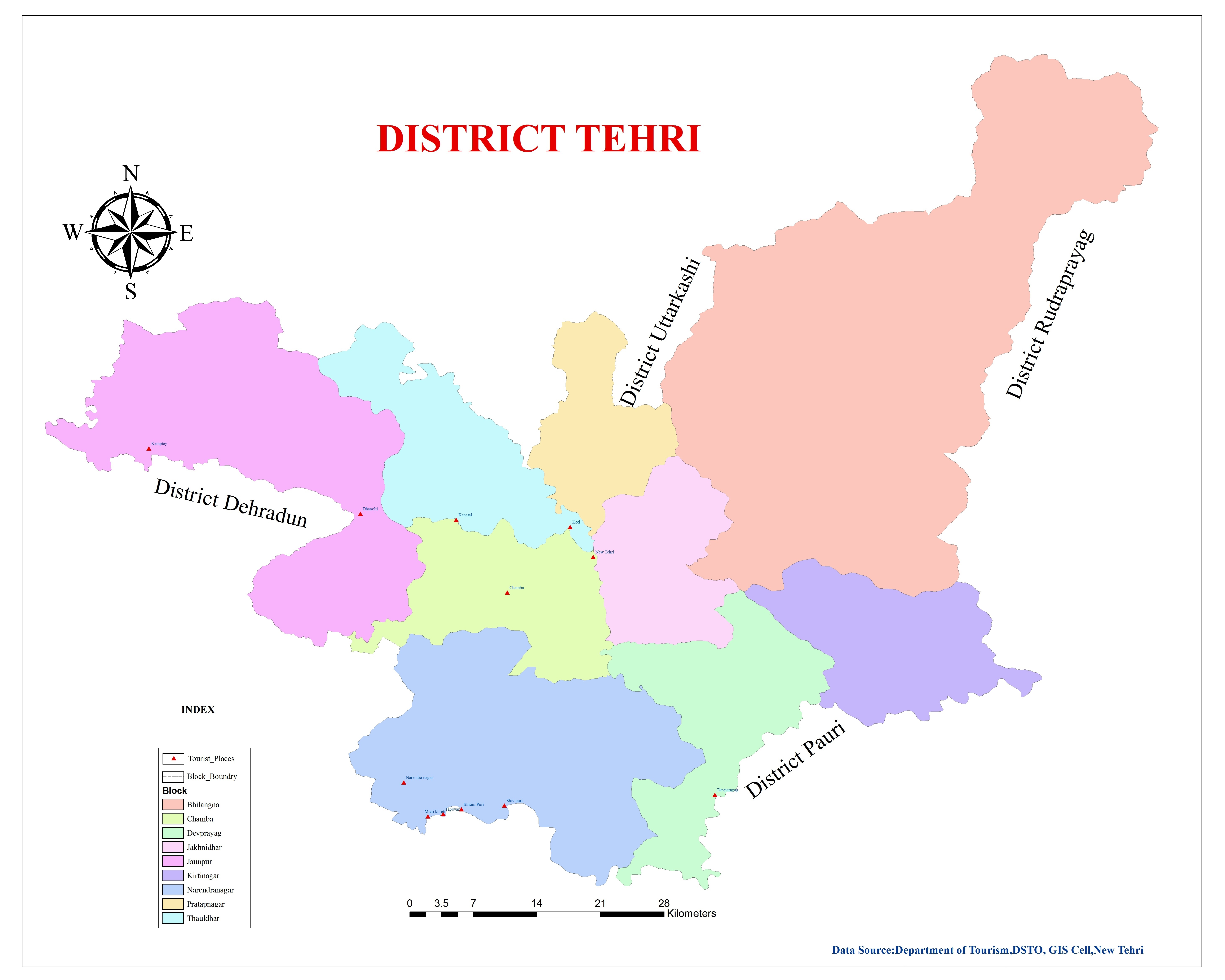 Map of Tehri