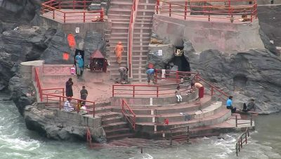 Holy bath at Ganga