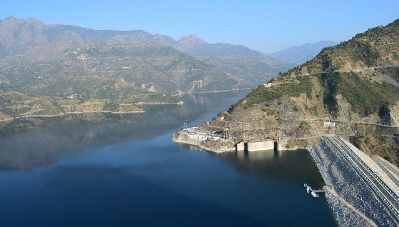 Blue water of Tehri lake