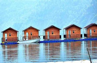 Floating Huts front view