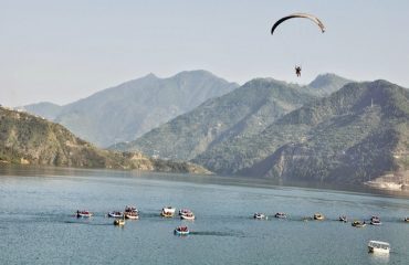 Water sport at Tehri lake