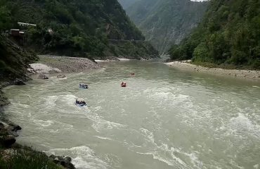Rafting at Kaudiyala