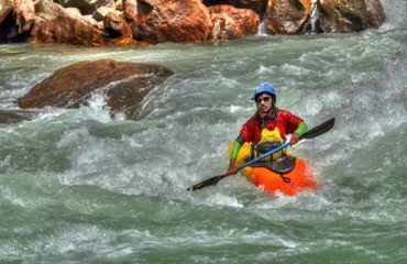 Kayaking in Ganga