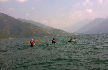 Kayaking at Tehri lake