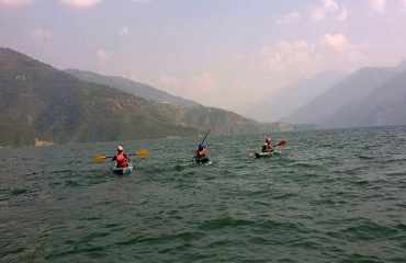 Kayaking at Tehri lake