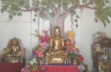 উদয়ন বৌদ্ধ বিহারে ভগবান বুদ্ধের অষ্টধাতুর মূর্তি