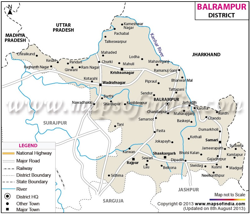 Map of District Balrampur