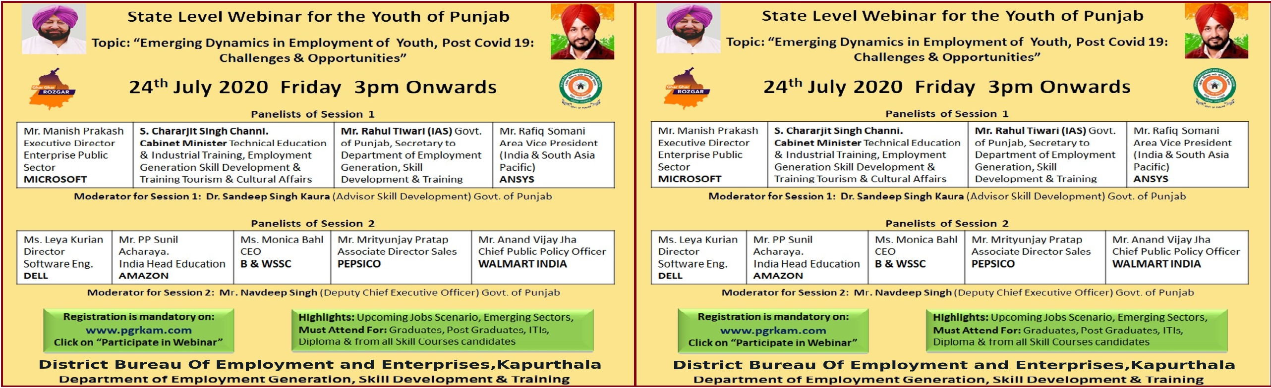 State level Webinar for the Yputh of punjab