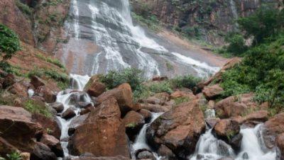 Perennial Horse tail type waterfall