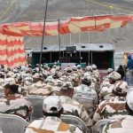 jawans posted at Pangong watching the HPM's VC
