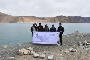 BSNL team at Pangong