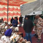 Pangong- briefing the ITBP jawans before the HPM's VC