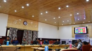 Officers attending the session at Conference Hall DC office, Leh.