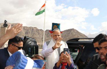Visit of PM to Leh