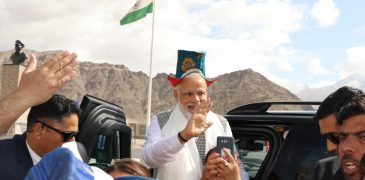 Visit of PM to Leh