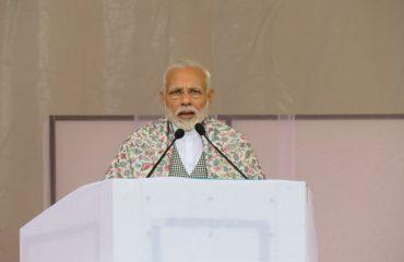 Hon'ble PM addressing public at Jivetsal Leh