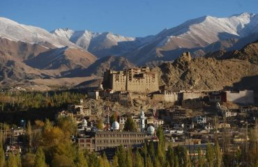 Magnificent view of Leh Palace in summer
