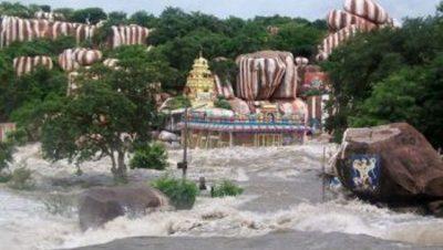 Edupayala Temple During Rainy Season