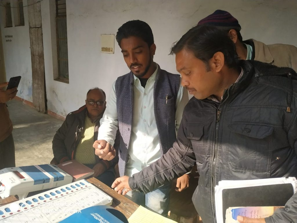 1- Awareness program regarding EVM & VVPAT at Tehsil Belthra Road on 27/12/2018..