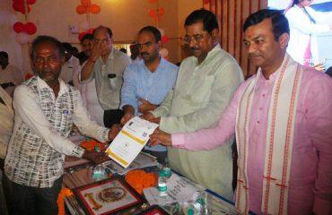MP Sri Bharat Singh Distributing Golden Card to Candidate