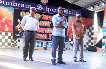 Chief Guest at SunBeam School in CBSE Eastern Zone Chess Tournament.