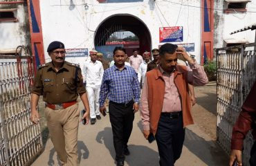 inspection of district jail by DM sir & SP sir,