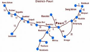 Road Route to Pauri
