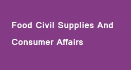 Food Civil Supplies and Consumer Affairs
