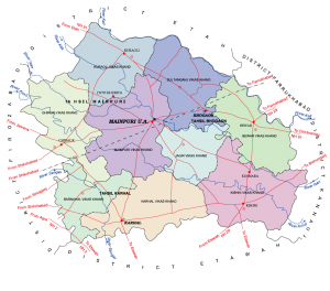 District Map Mainpuri