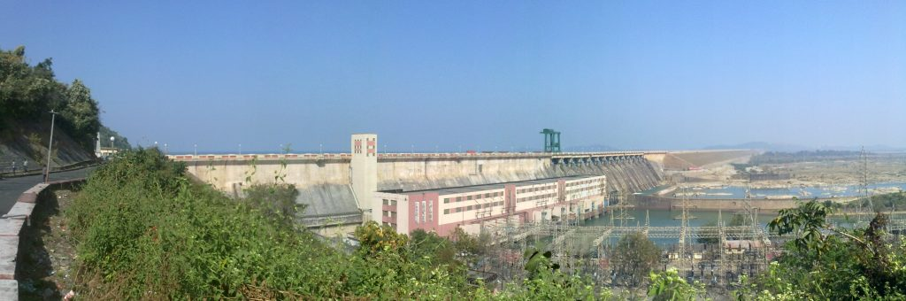 Length View of Main Hirakud Dam
