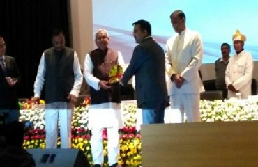 District Magistrate _Jamui Receiving prize_ from CM Bihar