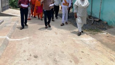 District Collector's inspection on various Development Works – 07-09-21