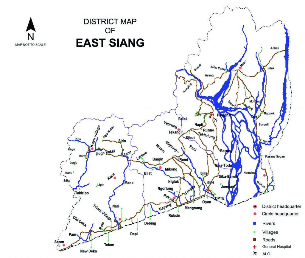 map of east siang district