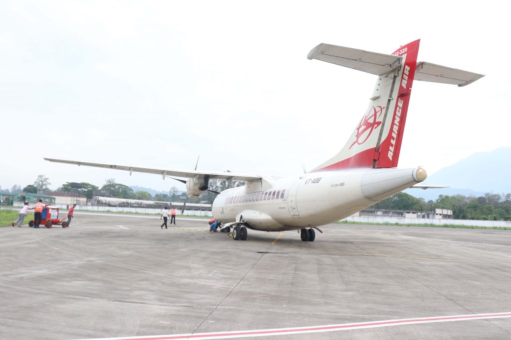 Alliance Airlines Lands at Pasighat