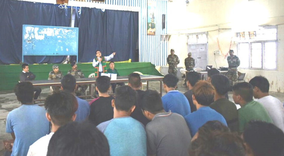 Pre-recruitment training to Indian Army at Pasighat