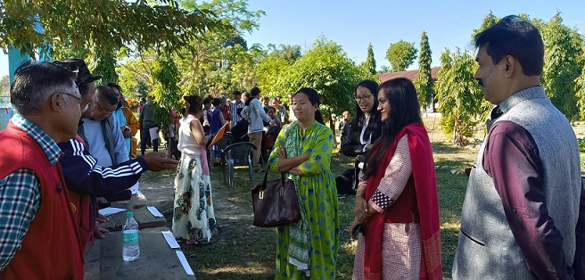 DC interacting with public at the SAD Event at Remi Village of Pasighat Town