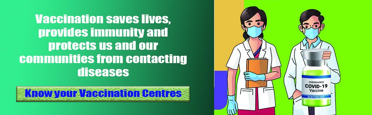 COVID-19 Vaccination centre banner