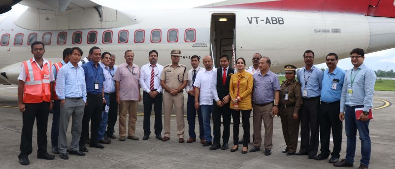 Alliance Airlines lands at Pasighat Airport