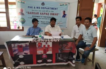 Stall of PHE&WS at Sarkar Aapke Dwar event in Kiyit Village