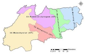 Image of Political Map of West Khasi Hills