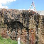 rock curved statues locally called GYALWARINA at Padum Zanskar