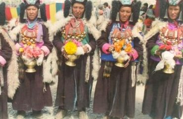 Zanskari Women in traditional dress