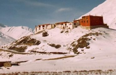Rangdum Monastery in winter