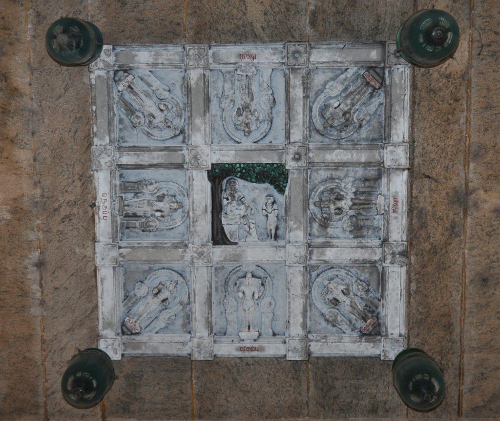ஆவுடையார்கோவில் இராசிமண்டல சிலை .