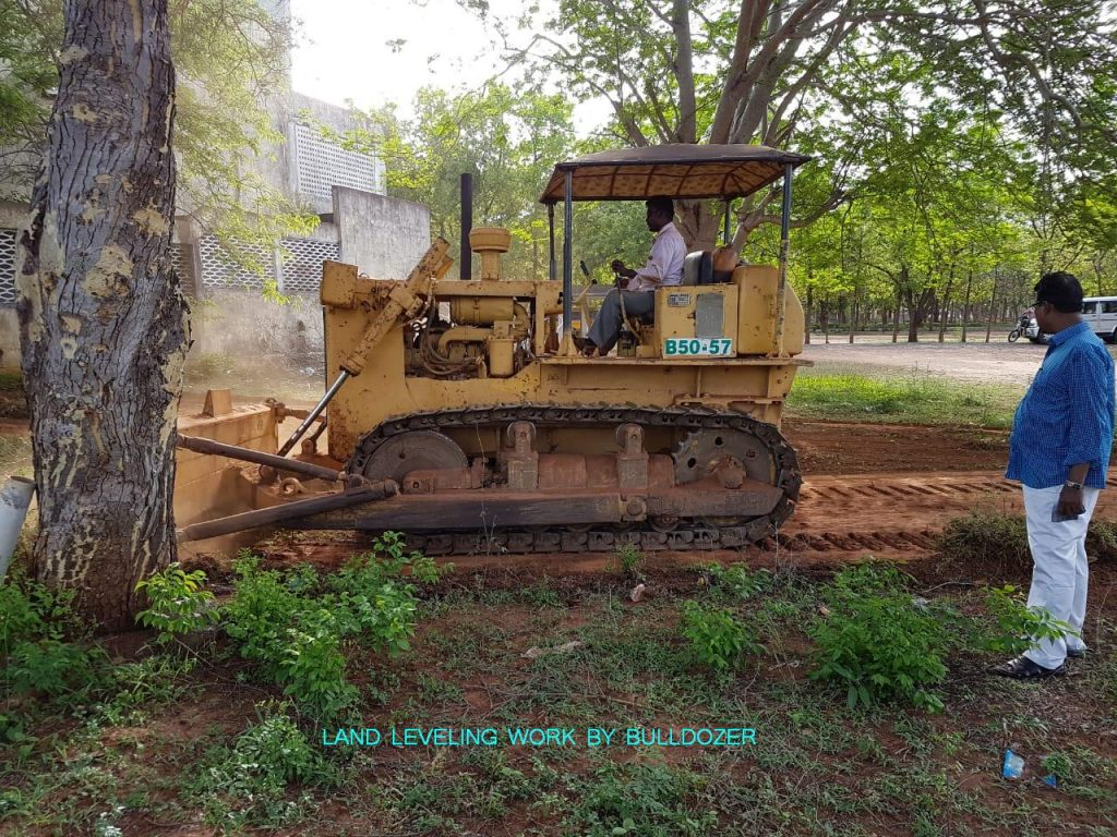 Agricultural Engineering - Land leveling work by Bulldozer.